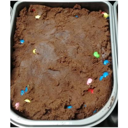 Ätbar Kakdeg med smak av Choklad & Minilinser